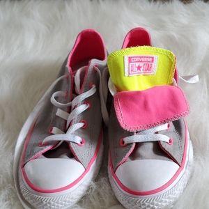 Converse gray pink yellow size 4